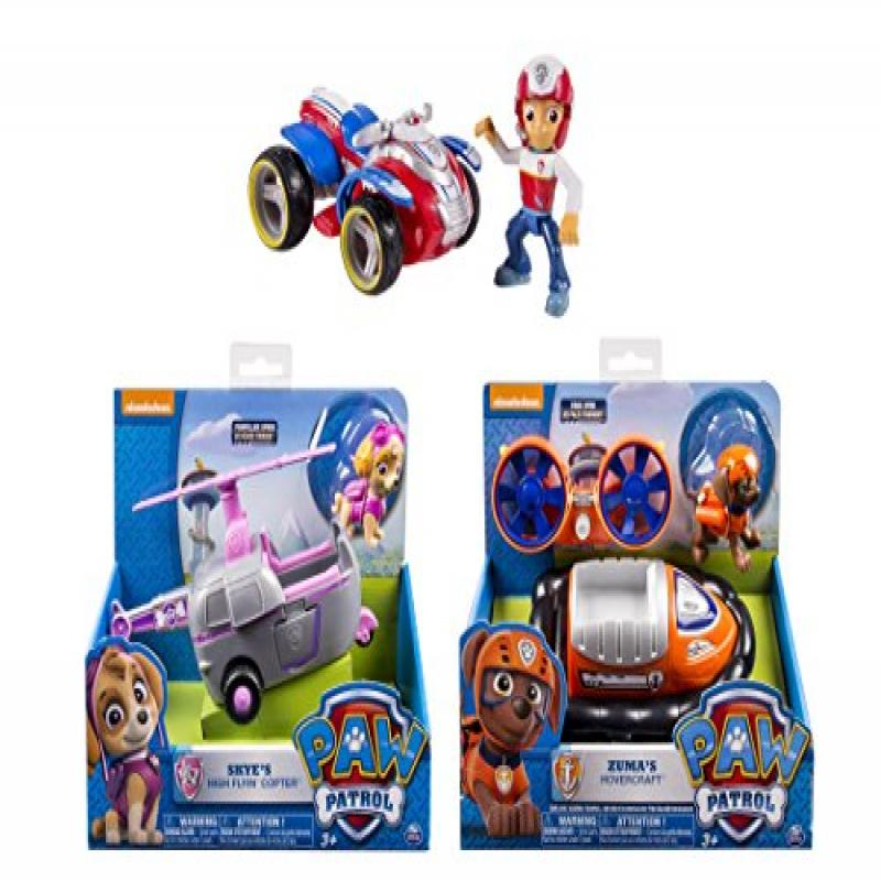 Paw Patrol 3 Pack Series 2 Case Playsets Ryder's Rescue ATV Skye's High Flyin Copter Zuma's Hovercraft by