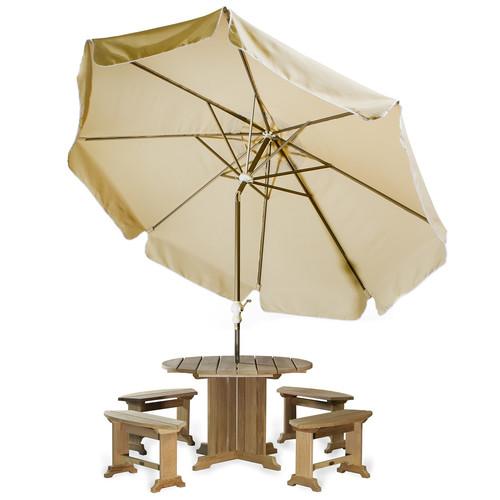 All Things Cedar Java Teak 10' Drape Umbrella