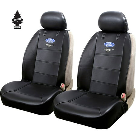 New Pair Of Ford Mustang Logo Universal Sideless Seat Cover W HeadRest And Air Freshener