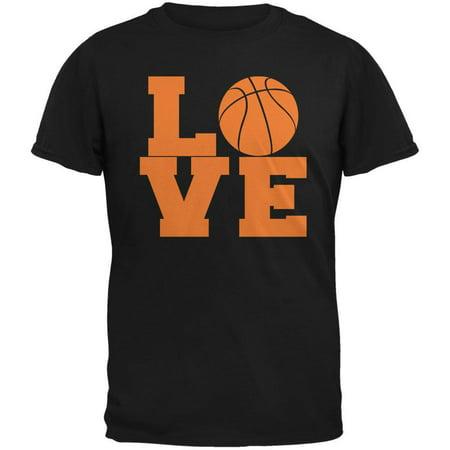 Basketball Love Black Adult T-Shirt Adult Basketball Jersey Shirt