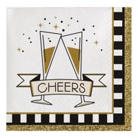 Midnight Celebration Beverage Paper Napkins, 16 Ct per package