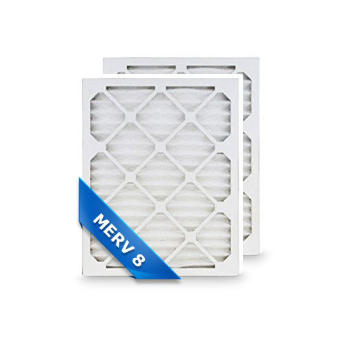 replacement pleated air filter 14x24x1 merv 8 (2-pack) - walmart.com