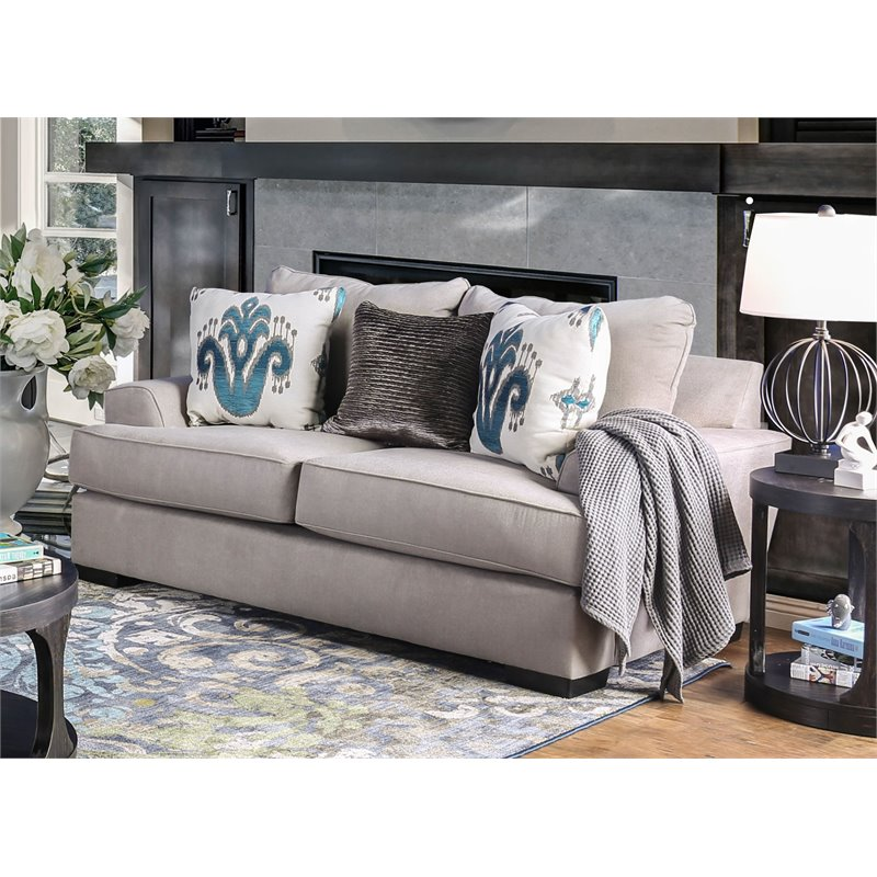 Furniture of America Harmon Contemporary Loveseat in Gray
