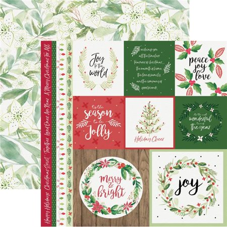 Kaisercraft P2611 12 x 12 in. Merry Peace & Joy Paper