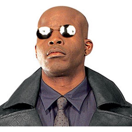 Morpheus The Matrix Sunglasses Laurence Fishburne Costume Glasses No Temples](Halloween Temple Texas)