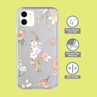 onn. Phone Case for iPhone iPhone SE (2020), 11 Pro Max, XR, 8 Plus, 8, 7 Plus, 7, 6 Plus, 6. 6s Plus, 6s - Clear Floral, Spots, Blush Metallic, Marble Fleck, Marble, Diamond