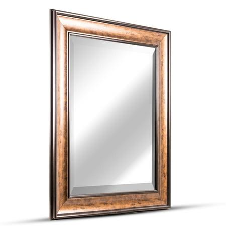 Hartley Bronze Antiqued Vanity Wall Mirror ()