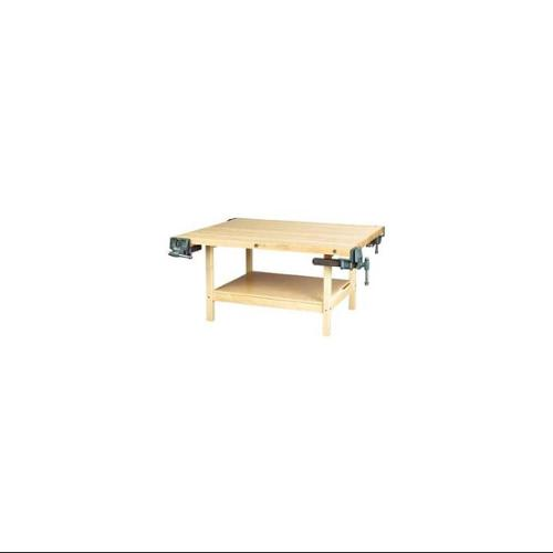 2-Station Large Workbench w Vise (54 in. D (375 lbs.) w 2 Vises)