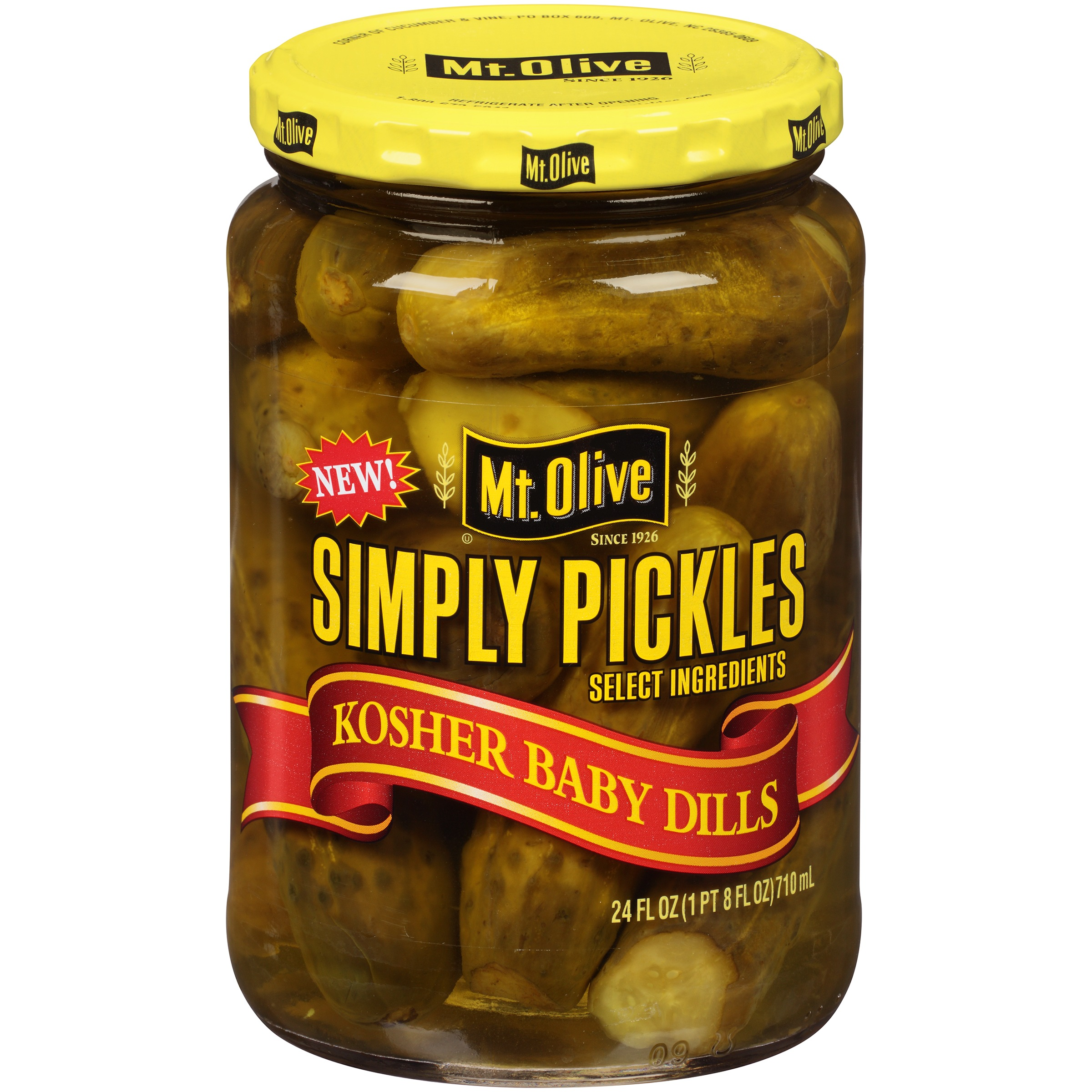 Mt. Olive Kosher Baby Dills Pickles, 24 fl oz by Mt. Olive Pickle Company, Inc.
