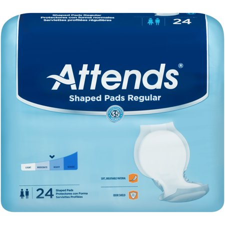 Ultra Plus Bladder Control Pads (Attends Shaped Plus Day Regular Bladder Control Pads SPDR One Size Fits Most Case of 96, White)