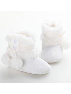 Winter Warm Newborn Toddler Baby Boy Girl Snow Boots Fur Crib Shoes Prewalker