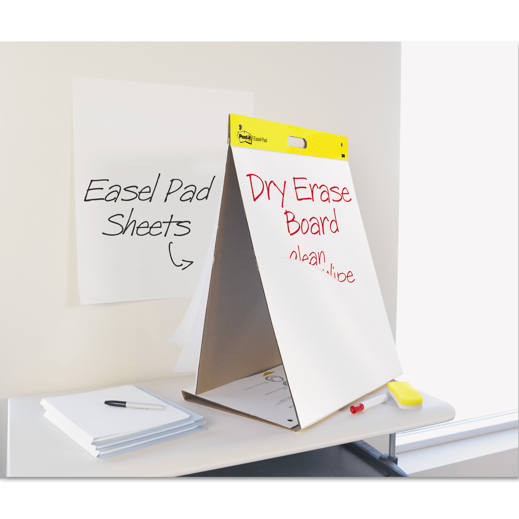 postit easel pads dry erase tabletop easel unruled pad 20 x 23 - Table Top Easel