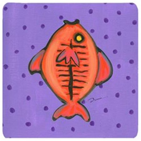 Carolines Treasures LD6131FC Fish Foam Coasters - Set Of 4, 3.5 x 3.5 In. - image 1 de 1