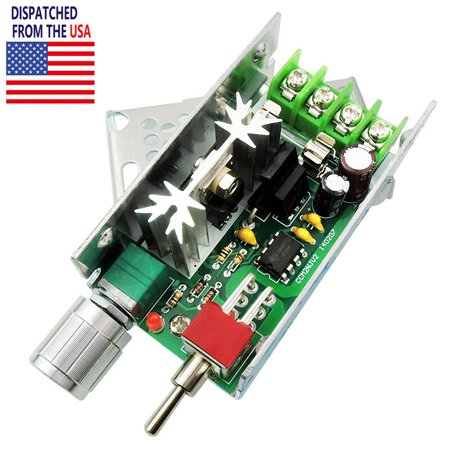 12V 24V 3A DC Motor Speed Controller Adjustable Driver Switch PWM HHO Reversing ()