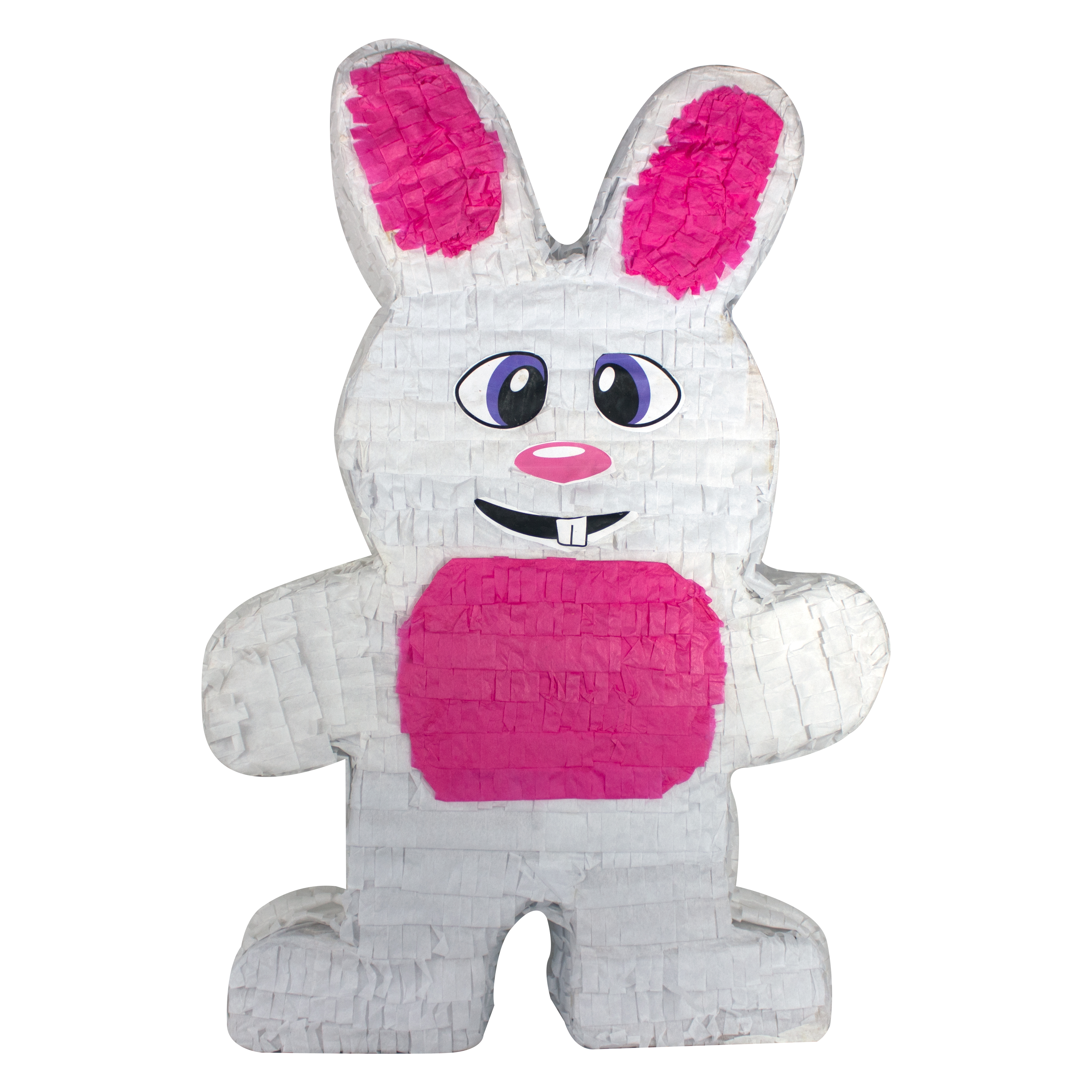 Easter Bunny Party Pinata, White & Pink, 14.5in x 22.5in