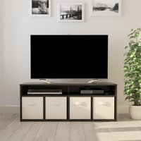 "Mainstays 4 Cube TV Console for TVs Up to 59"", Multiple Finishes"