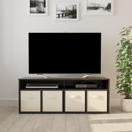 Console 4 Rack - Mainstays 4 Cube TV Console for TVs Up to 59