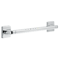 """Delta 41918 18"""" Grab Bar with Concealed Mounting, Angular Modern Design"""