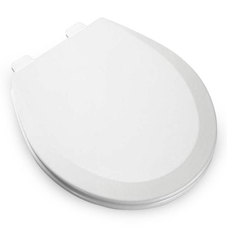 - Bemis Residential Round Molded Wood Toilet Seat White