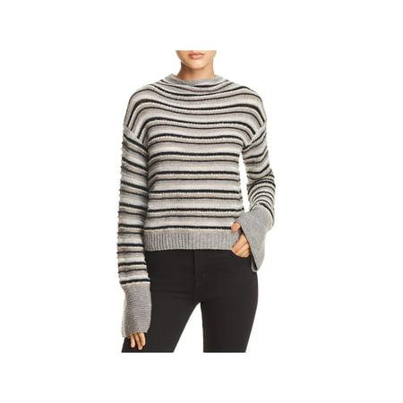 Splendid Womens Everest Striped Wool Blend Pullover Sweater Knit Wool Blend Sweater