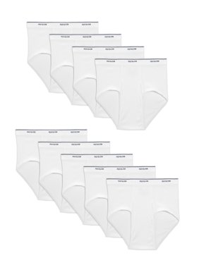 Fruit Of The Loom Men's Dual Defense Classic White Briefs, 9 Pack