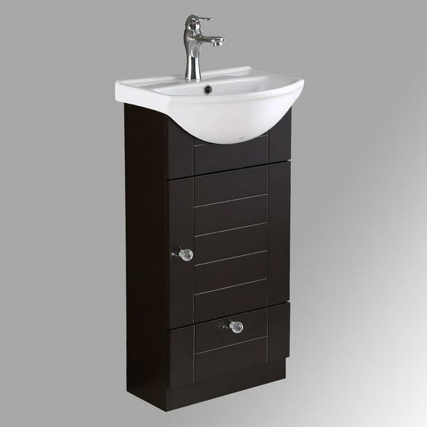Renovators Supply Single Sink Small Bathroom Vanity Set Vitreous China Top Vessel Sink Walmart Com Walmart Com