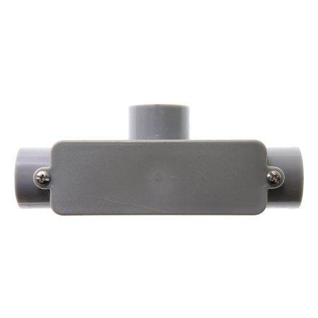 Carlon E983E Rigid Non-Metallic PVC Type-T Conduit Access Body, -