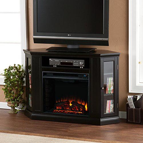 Silverado Convertible Media Fireplace, Black - Box 1 of 2