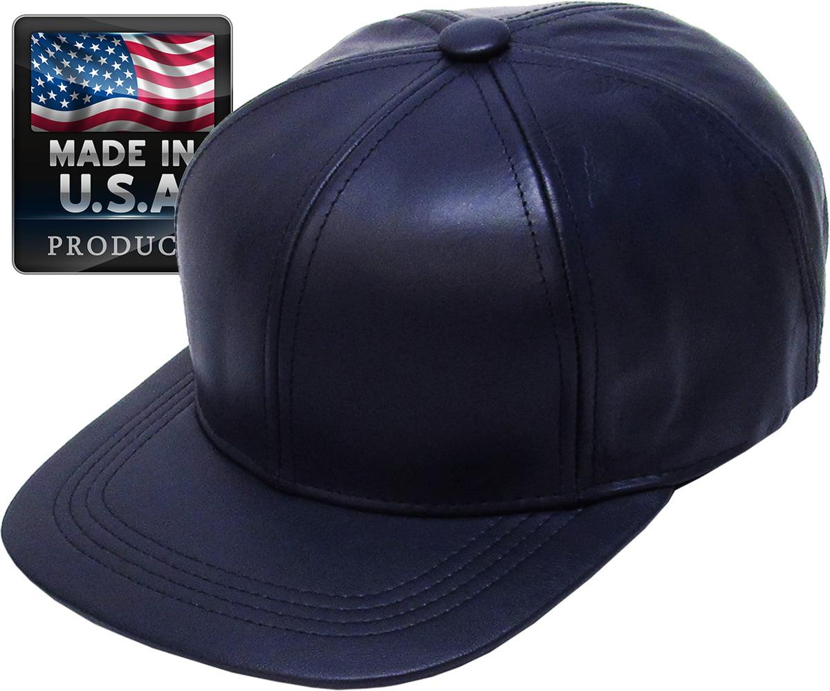NYFASHION101 Mens Genuine Leather Fedora Hat Made in USA