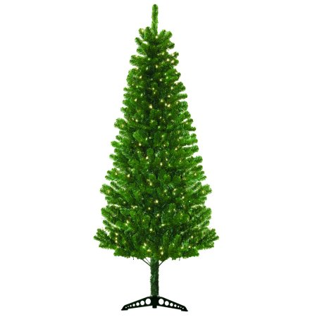 Pre-Lit 7' Morrison Artificial Christmas Tree, 300 Clear Lights - Online Christmas Stores