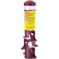 Stokes Select Seed Tube Bird Feeder with 6 Feeding Ports, Red, 1.6 lb Capacity
