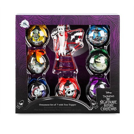 Disney The Nightmare Before Christmas Ornament Set and Tree Topper New with Box ()