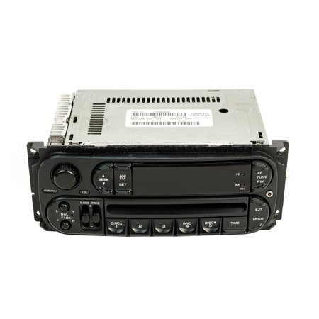 Dodge Caravan Radio 2002-2004 AM FM CD Upgraded With Auxiliary Input RBK Slider - Refurbished - Nissan Auxiliary Input