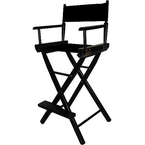 "Director's Stool 30"", Black Wood Base, Multiple Colors"