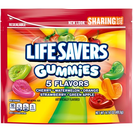 Life Saver Suckers (LIFE SAVERS Gummies 5 Flavors Candy, 14.5-Ounce Sharing Size)