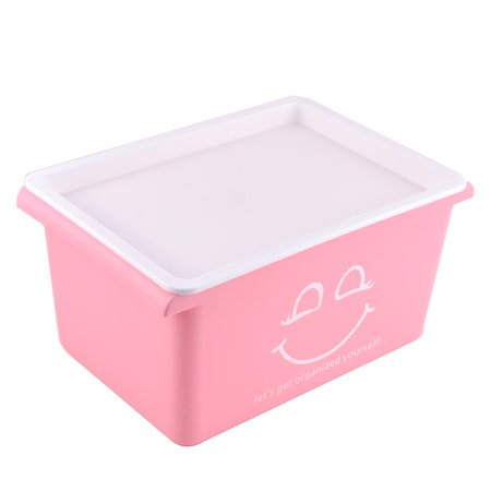 family household plastic smiling pattern clothes storage box container case pink. Black Bedroom Furniture Sets. Home Design Ideas