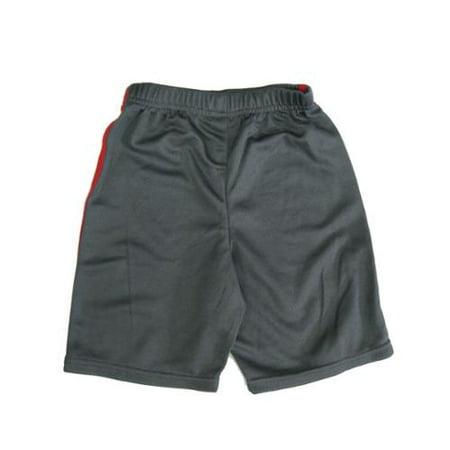 Nickelodeon Little Boys Grey Red Color Elastic Waist Basketball Shorts 7