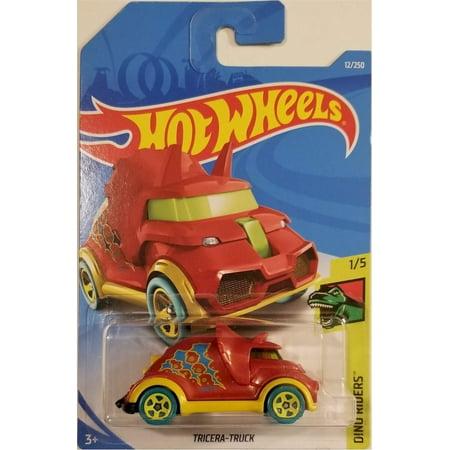 Hot Wheels 2019 Basic Vehicle Dino Riders: Tricera Truck (Red/Yellow) - Int.