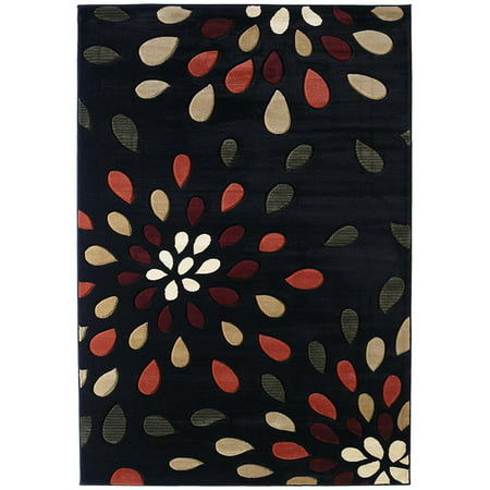 (Designer Home Angles Area Rugs - 510-23176 Contemporary Onyx Tear Drops Water Drops Rug)