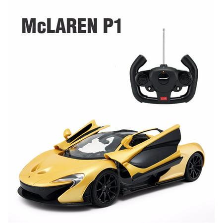 radio control model car 1 14 mclaren p1 authentic body styling w open doors rc vehicles yellow. Black Bedroom Furniture Sets. Home Design Ideas