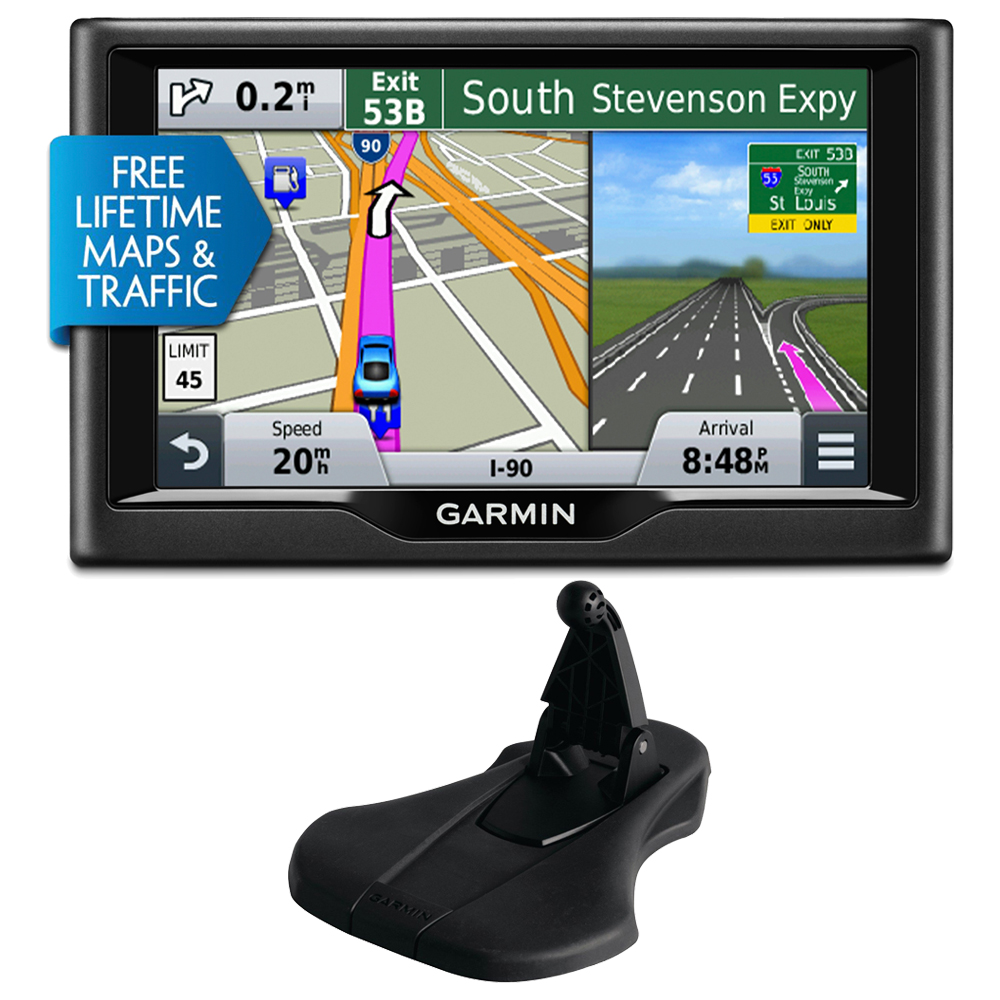 "Garmin nuvi 57LMT 5"" 010-01400-02 Essential Series 2015 GPS Navigation System w Maps/Traffic Bundle With Portable Friction Mount (Flexible Style)"