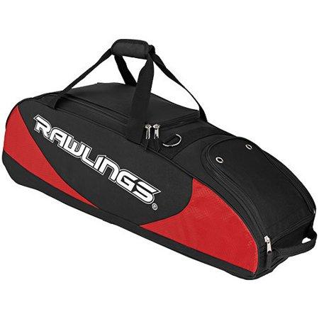 Rawlings Ppwb S 4 Bat Player Preferred Wheeled Baseball Softball Bag Scarlet Red