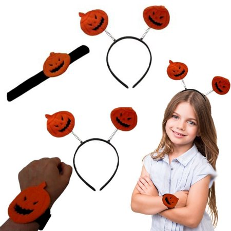 Pumpkin Slap Bracelet and Headband | Halloween Design Slap Bracelet and Pumpkin Headband | Pack Contains 1 Slap Bracelet and 1 Headband | Dazzling Toys](Toys Center Halloween)