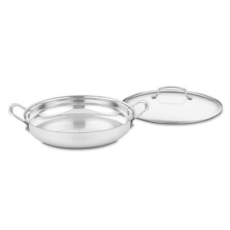 "Cuisinart Contour Stainless Steel 12"" Everyday Pan W/Cover"