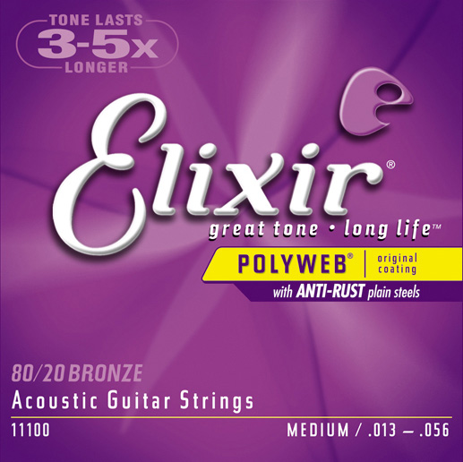 Elixir 11100 Polyweb 80/20 Bronze Acoustic Strings