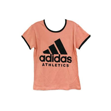 Adidas Ladies Short Sleeve Classic Logo Graphic Essential T-Shirt