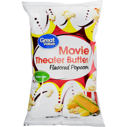 Great Value Movie Theater Butter Flavored Popcorn, 7.5 oz by WAL-MART STORES INC