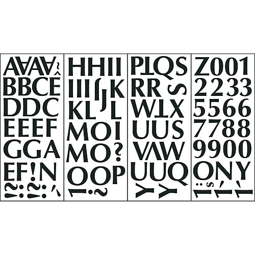 Alphabet Self-Stick Decal