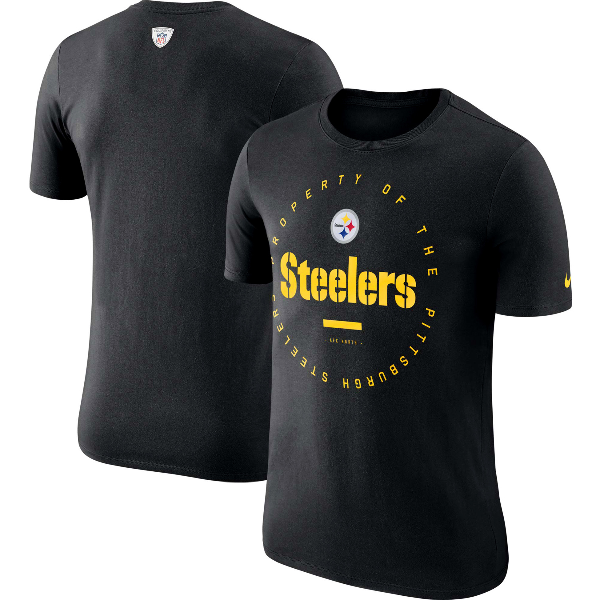 Pittsburgh Steelers Nike Sideline Property Of Performance T-Shirt - Black