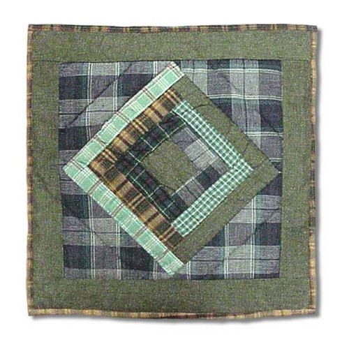 Patch Magic Log Cabin Cotton Throw Pillow